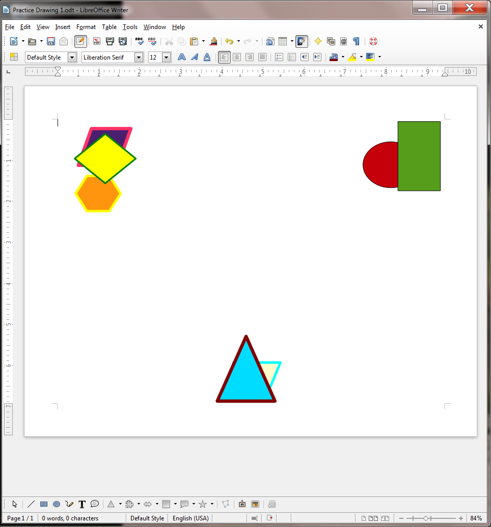 Lesson 3 The LibreOffice Drawing Tools — ICT Documentation Site